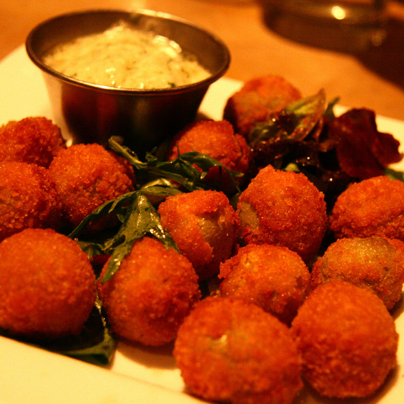 Fried Stuffed Olives @ Cyrano's Cafe & Wine Bar