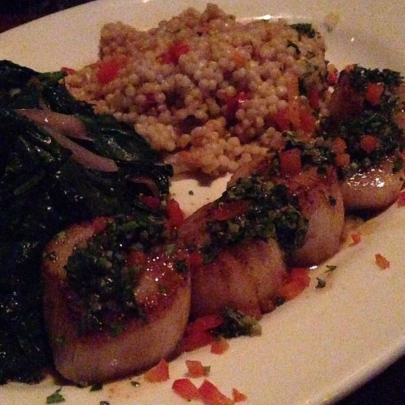 Scallops With Couscous And Spinach - Stanford Grill, Columbia, MD