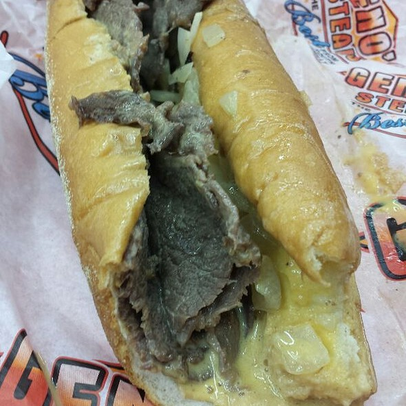 Cheesesteak With Fried Onions And Wiz.