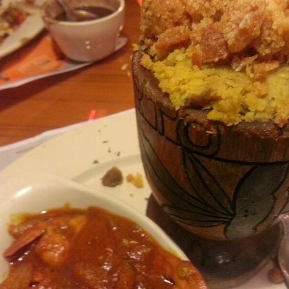 Shrimp Mofongo, Arroz Con Gandules @ Home