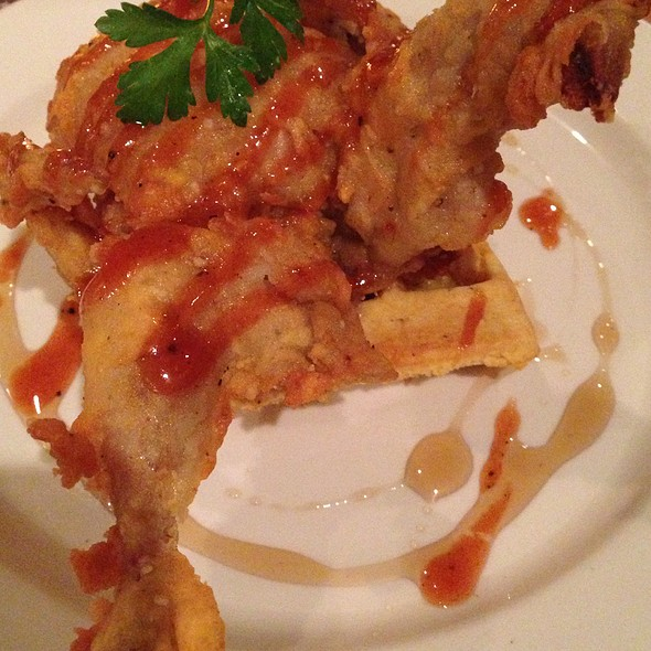 Chicken fried Quail and Waffles @ Apolline