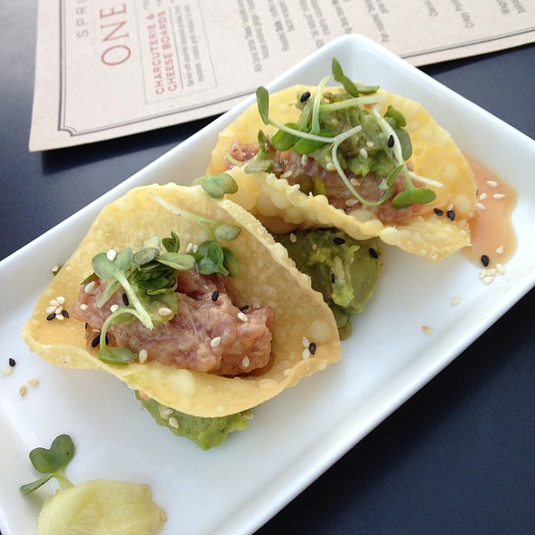 Ahi Tuna Tacos - One Red Door, Hudson, OH