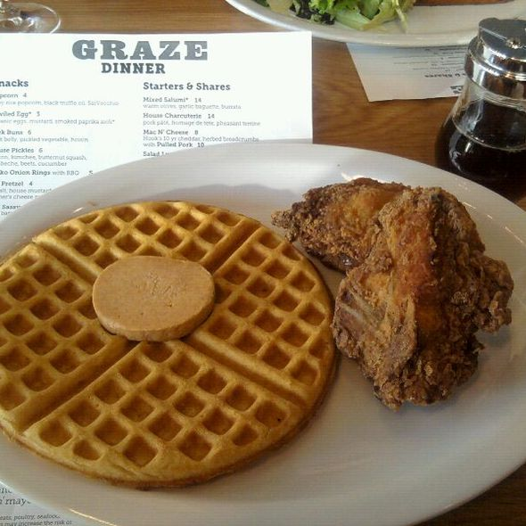 Chicken and Waffles @ Graze