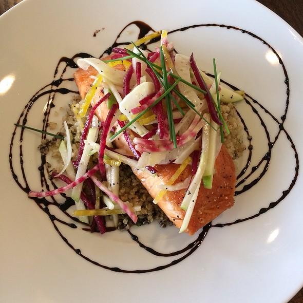Salmon With Raw Beet Salad & Quinoa - Taverna Banfi, Ithaca, NY