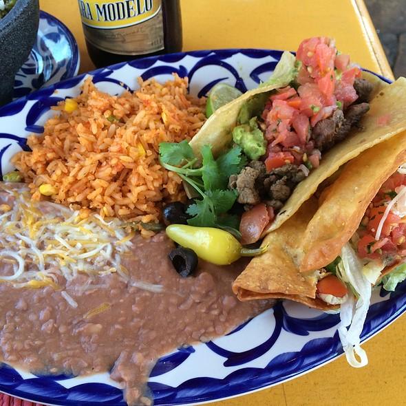 Two Taco Plate @ Casa De Reyes Restaurant