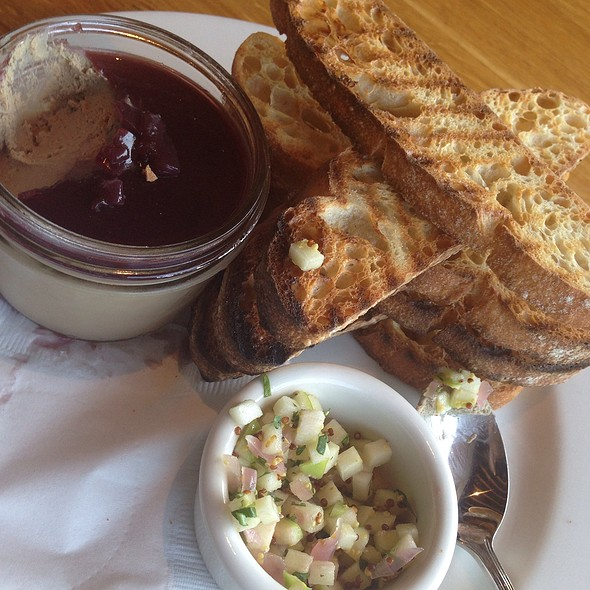 Chicken Liver Mousse w/ Green Apple Chutney on Grilled Sourdough @ Westside Tavern
