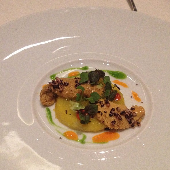 Sea Urchin On Potato With Pepper And Lime @ Restaurant Guy Savoy, Caesars Palace