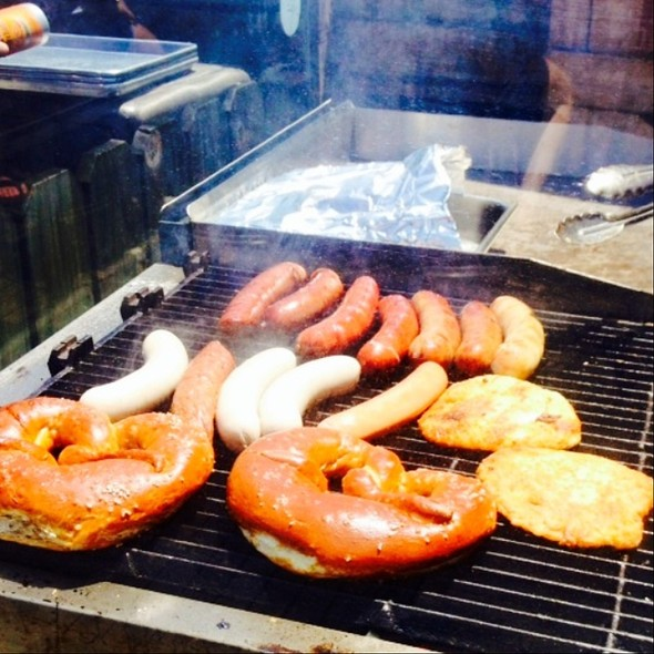 Sausages On The Grill @ Gene's Sausage Shop