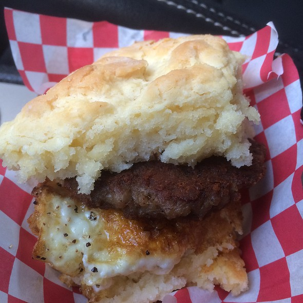 Buttermilk Biscuit With Egg And Sausage @ Cruze Farm Trailer