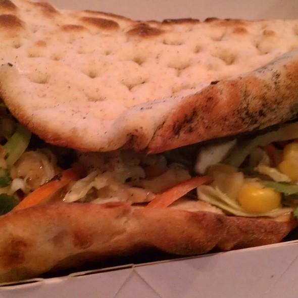 Southwestern Chicken Flatbread Sandwich @ Panera Bread