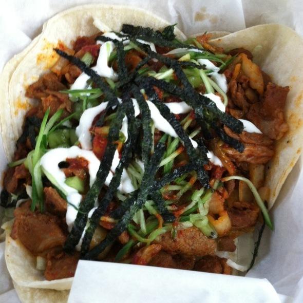 Korean Tacos @ HRD Coffee Shop