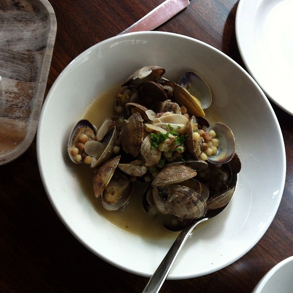 Clams In Broth With Israeli Cous Cous