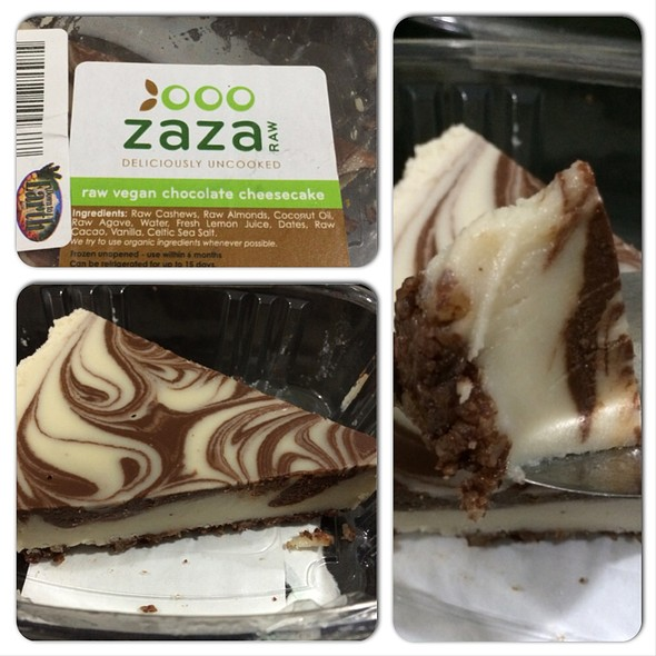 Zaza Raw - Raw Vegan Chocolate Cheesecake @ Down To Earth All VEGETARIAN Organic & Natural