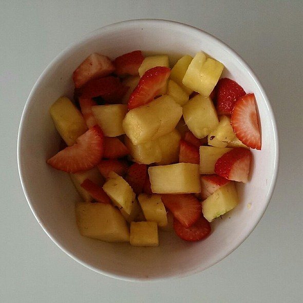 Strawberries and Pineaple @ Home
