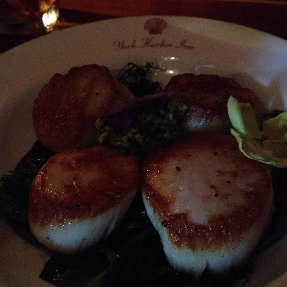 Scallops & Spring Pea Tendril - 1637 at York Harbor Inn, York Harbor, ME