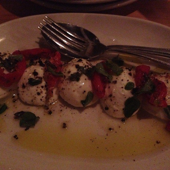 Roasted Tomato Caprese With Fresh Oregano @ Black Bottle