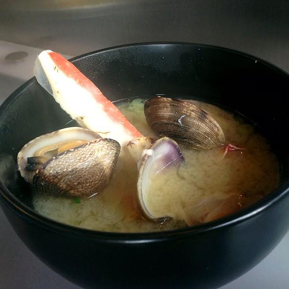 King Crab Miso Soup - Azuki Sushi Lounge, San Diego, CA