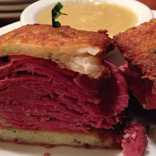 Corned Beef And Potato Pancake Sandwich @ Fromin's Restaurant