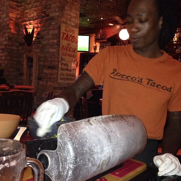 Tableside Guacamole @ Roccos Tacos & Tequila Bar