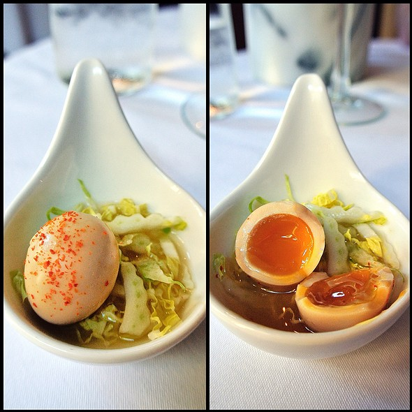 Quail Egg In Miso Broth @ Marigold Kitchen