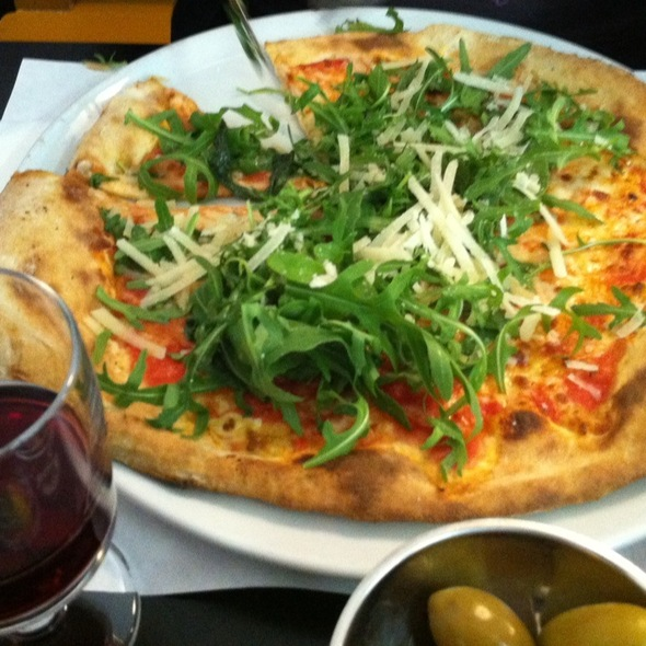 Pizza Margarita Con Ruccola