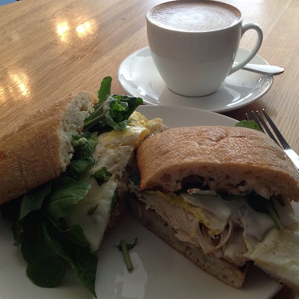 Egg Sandwich With Turkey & Jack @ The Larder at Burton Way