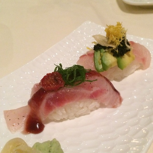Yellowtail & Sea Bass Nigiri @ Uptown Sushi