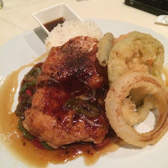 Firecracker Chicken With Tempura Vegetables & Steamed Rice @ Uptown Sushi