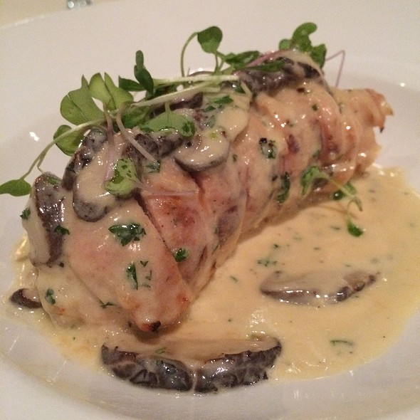 Chicken Medallions Over Duck Risotto Topped With Mushroom Cream Sauce @ Uptown Sushi