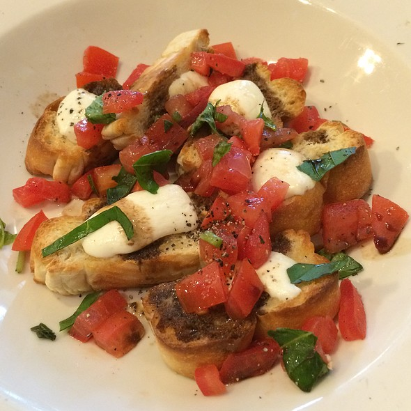 Tomato Basil Bruschetta With Mozzarella @ West End Pizza Co.