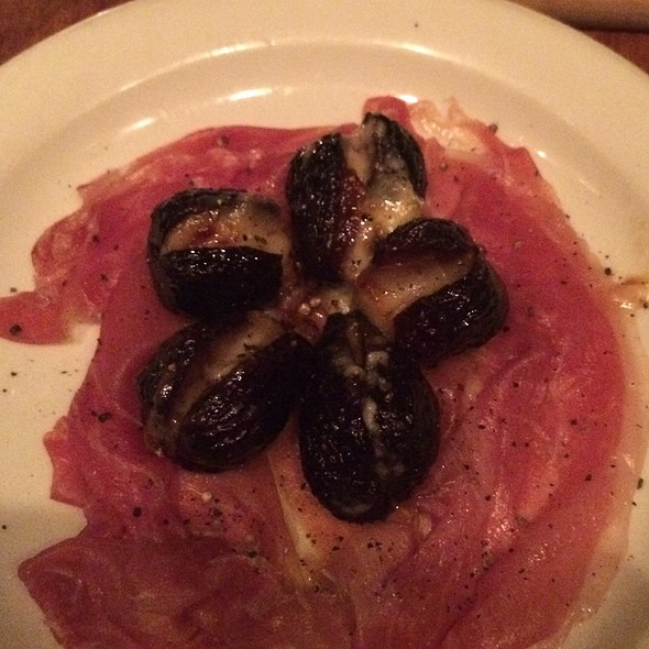 Prosciutto Di Parma With Black Mission Figs Stufed With Gorgonzola @ Tria