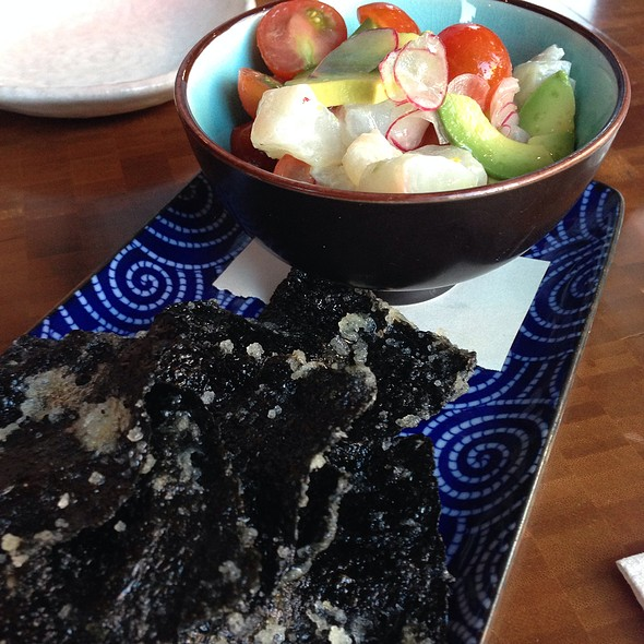 Hamachi Ceviche With Nori Chips