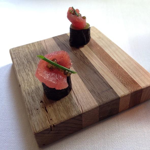 Tuna Sashimi With White Sturgeon Caviar