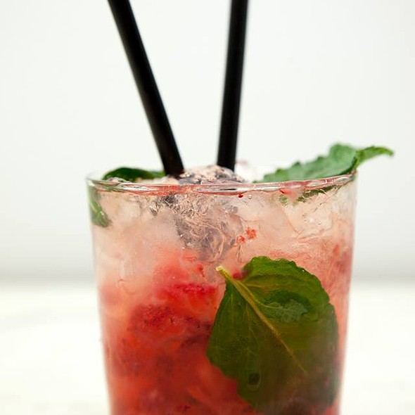 Strawberry Caipirinha @ Santo Restaurante & Deli