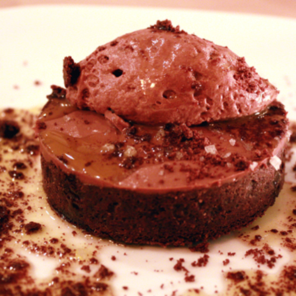 Chocolate budino tart @ A16