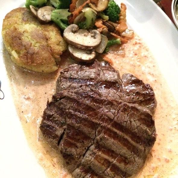 Filet Mignon Rivas With Potato Pancake & Vegetables @ Rivas Restaurant & Bar