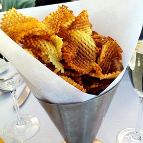 housemade potato chips with truffle salt