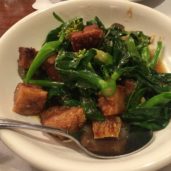 Chinese Broccoli with Fried Pork Belly @ Lotus of Siam