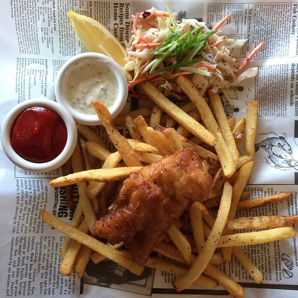 Fish and Chips @ Mahony & Sons Public House Burrard Landing