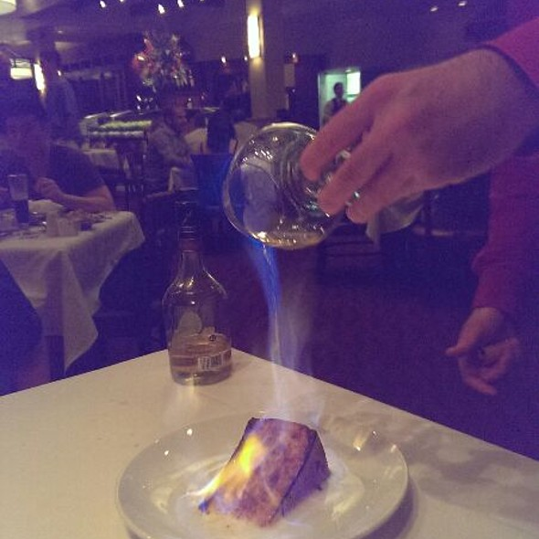 Flaming Cheesecake