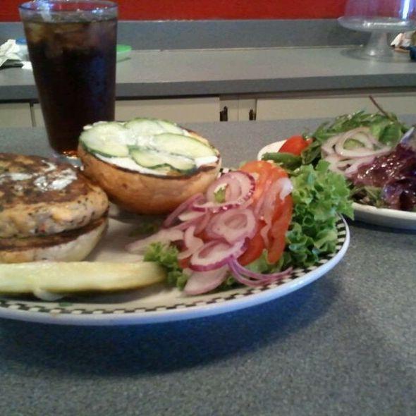Spicy Salmon Burger @ Fly Trap Restaurant