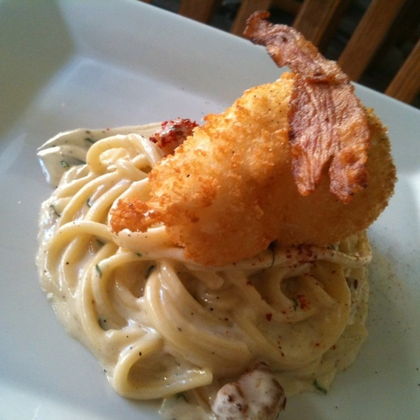 Housemade Spaghetti with Guanciale and Fried Poached Farm Egg