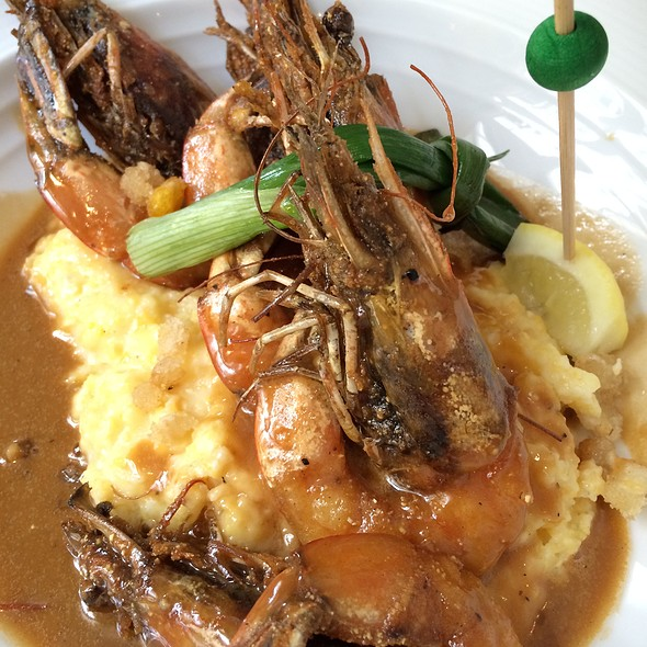 Bbq Gulf Shrimp And Grits - Restaurant R'evolution, New Orleans, LA