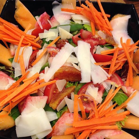 Salad With Tomatoes, Orange, Parmesan Cheese, Peaches, Carrots @ Ristorante Del Teatro