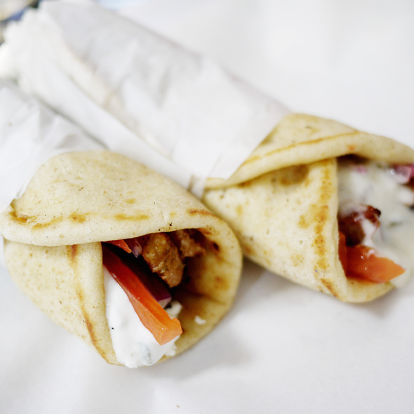 Bifteki Sandwich and Pork Souvlaki - Souvlaki GR - LES, New York, NY