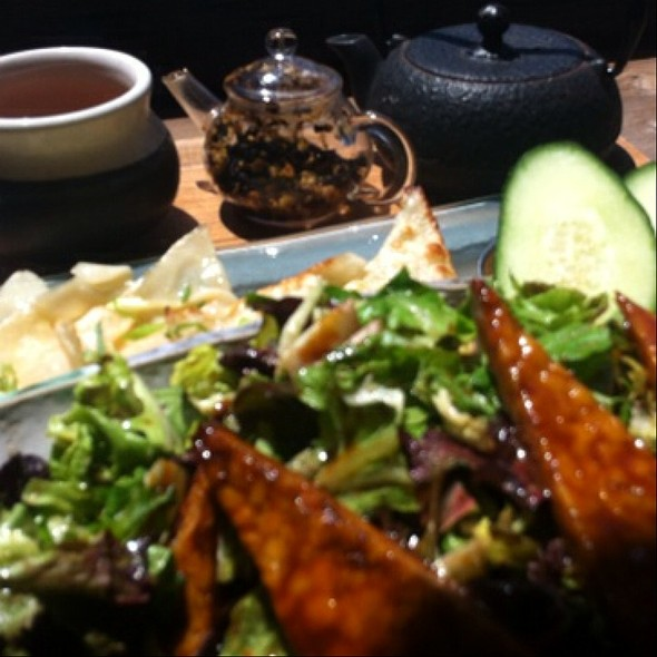 Baked Tempeh Over Seasonal Greens - Samovar Tea Lounge - Zen Valley, San Francisco, CA