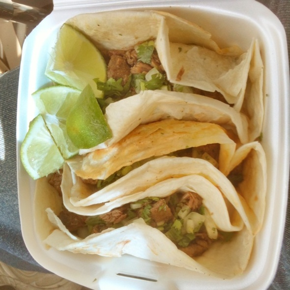 Beef Fajita Tacos @ Taqueria El Si Hay