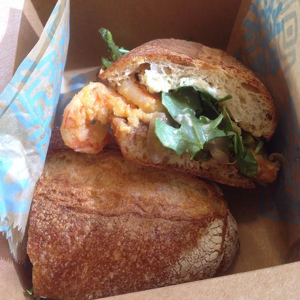 Smoky Garlic Shrimp Torta @ Tortas Frontera at Chicago O'Hare International Airport