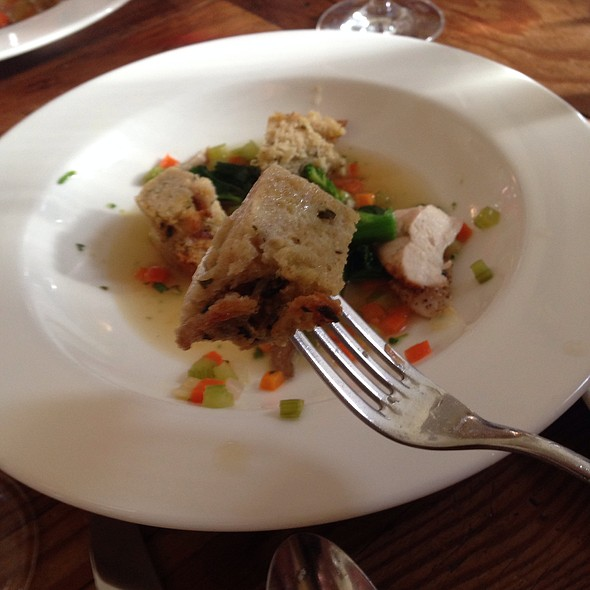 Hoffman Chicken & Herbed Bread Pudding @ Heirloom Cafe