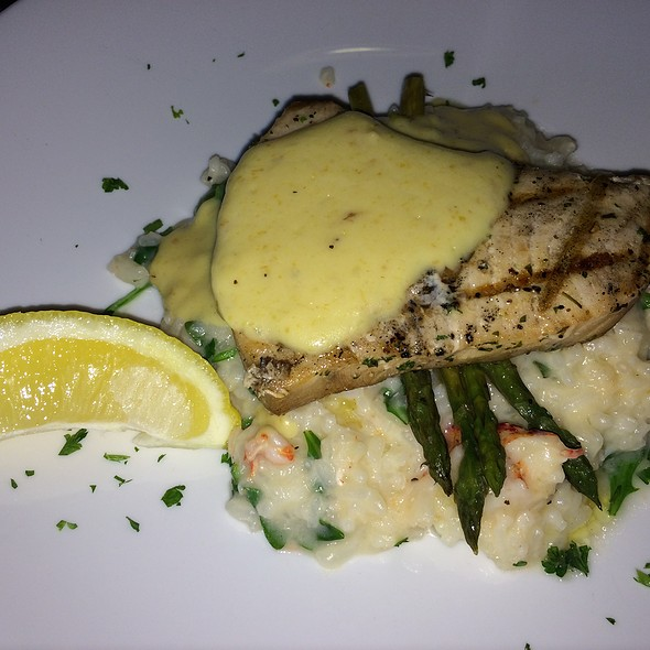 Grilled Tuscan Swordfish and Lobster Risotto - Longfellows Restaurant & Hotel, Saratoga Springs, NY